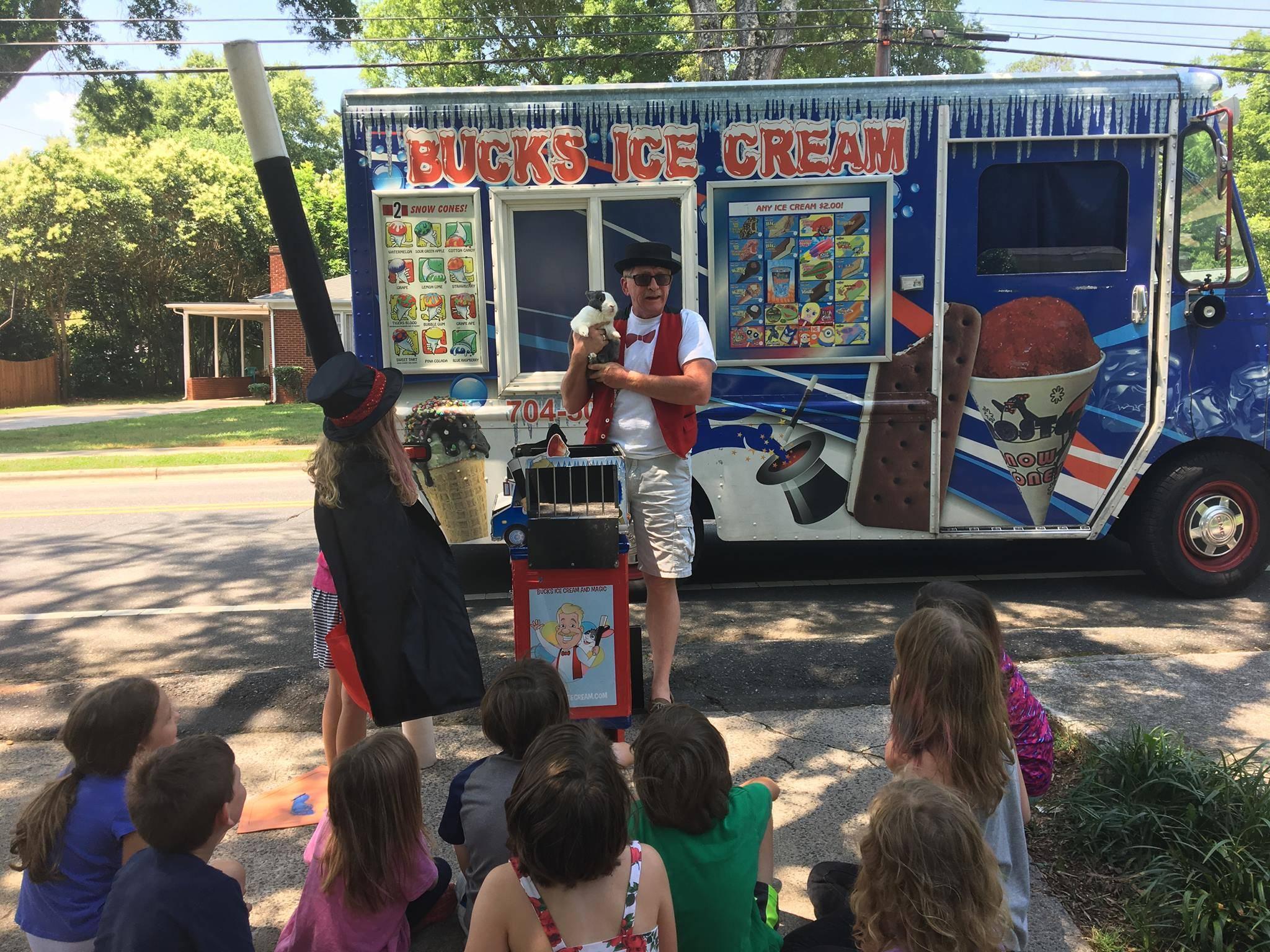 Bucks Ice Cream and Magic Kids Birthday Party